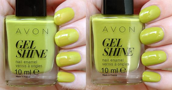 citronne avon gel finish moroccan ladydee