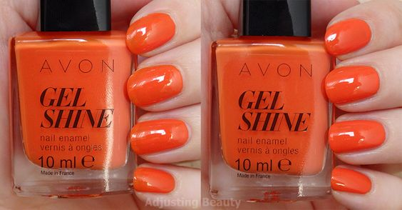 orange en folie avon gel finish moroccan ladydee