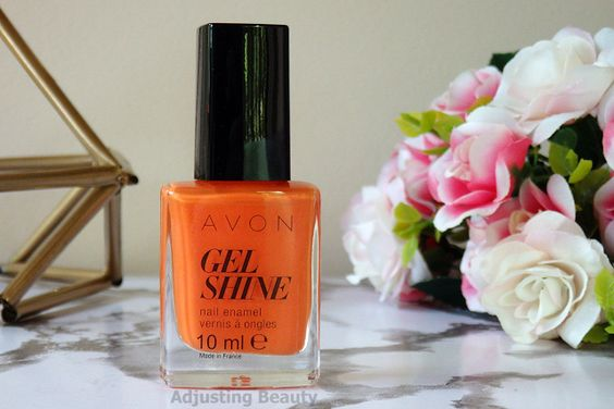 orange en folie vernis avon gel finish moroccan ladydee