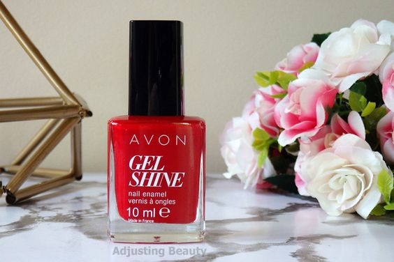 roses rouges vernis avon gel finish moroccan ladydee
