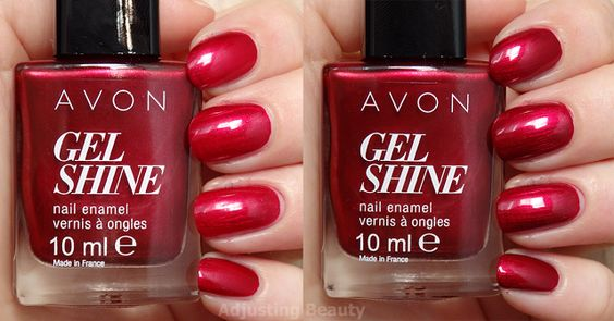 velours rouge avon gel finish moroccan ladydee