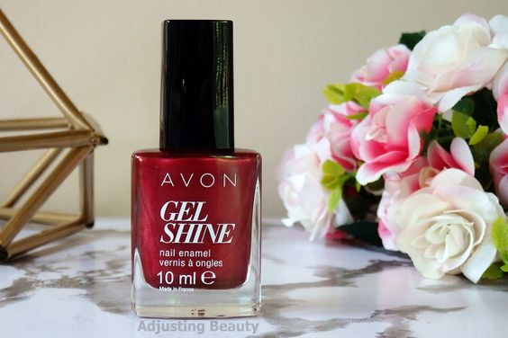 velours rouge vernis avon gel finish moroccan ladydee