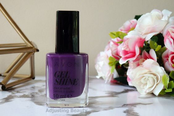violet delicieux vernis avon gel finish moroccan ladydee